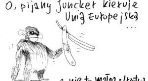 Juncker z brzytwą