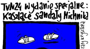 Kaszlące sandały Michnika